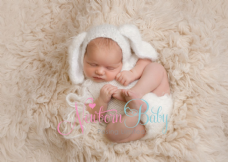 Backdrop,  hat, rabbit and vest bundle